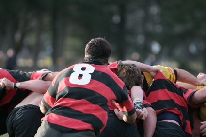 Tackle rugby scrum