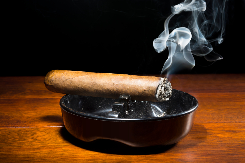Cigar in Ashtray